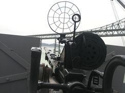 The aiming sight of the Oerlikon gun