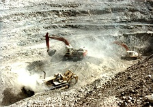 Surface mining in Sindh. Pakistan has been termed the 'Saudi Arabia of Coal' by Forbes.[390]