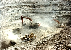 Surface mining in Sindh. Pakistan has been termed the 'Saudi Arabia of Coal' by Forbes.[408]