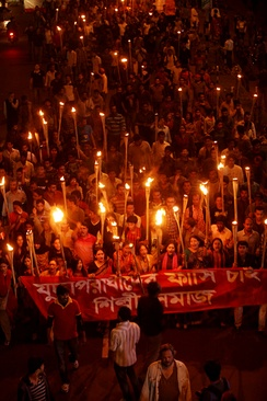 2013 Shahbag protests demanding the death penalty for the war criminals of the 1971 Bangladesh Liberation War