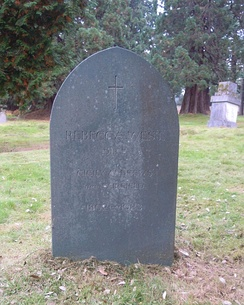 West's grave in Brookwood Cemetery