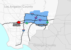 A map of San Gabriel Valley created using census data