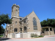 From top, left to right: Cathedral Santuario de Guadalupe, St. Matthew's Cathedral, First Baptist Church of Dallas, Saint Seraphim Cathedral
