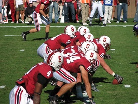 2007 offense lined up for a play