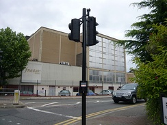Entrance to Fountain Studios, where the live shows were previously filmed