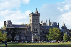 University College at the University of Toronto. University College is one of eleven colleges at the University of Toronto.