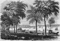 View of New London in 1854