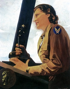 1943 portrait of WAC air controller