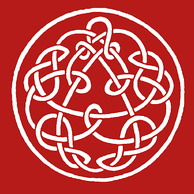 Later versions of Discipline featured this knotwork design by Steve Ball.