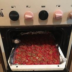 Приготовление вяленых томатов в духовке