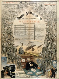 An 1889 Hetzel poster advertising Verne's works