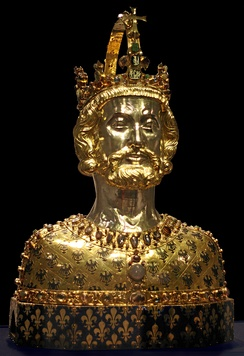 Bust of Charlemagne, located at Aachen Cathedral Treasury