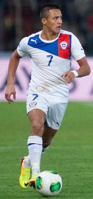 Alexis Sánchez is the top scorer in the history of Chile with 45 goals, and the most capped player with 136 caps.