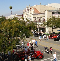 Route 66 Rendezvous by the historic California Theatre.
