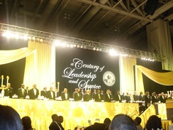 Alpha Phi Alpha Board Members at Centennial Banquet, July 2006 in Washington, D.C.