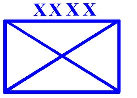The standard map symbol for a field army.  The four exes are the generic symbol of a field army (i.e. they do not represent Roman numerals); the army's specific number or name, if included, would be written numerically to the left of the symbol.