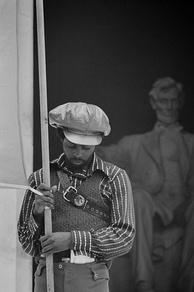 Black Panther at the Lincoln Memorial in Washington, June 1970