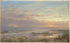 A High Tide at Atlantic City by William Trost Richards is housed in the Brooklyn Museum.