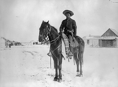 Buffalo Soldier in the 9th Cavalry, 1890