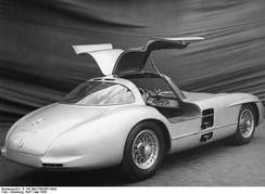 Gull-wing doors were a signature feature of the Uhlenhaut Coupé