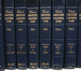 Volumes of the Thomson West annotated version of the California Penal Code; the other popular annotated version is Deering's, which is published by LexisNexis