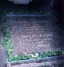 Headstone of him and his son Carl Linnaeus the Younger