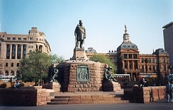 Statue of Paul Kruger on Church Square, Pretoria