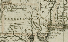 British map of Pennsylvania from 1680 (from the Darlington Collection).