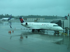 Delta Connection CRJ200 at Gate 6 in MHT