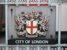 City of London coat of arms on the street