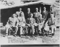 Roosevelt and other political figures at the Greenway Ranch, 1932