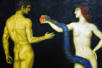 Adam and Eve by Franz Stuck, 1920