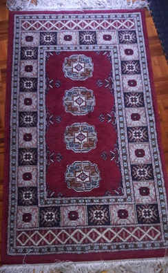 Handwoven Bokhara rug made in South Africa
