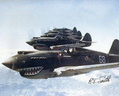 3rd Squadron Hell's Angels, Flying Tigers over China, photographed in 1942 by AVG pilot Robert T. Smith. [N 6]