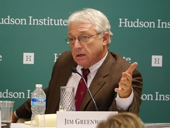 Greenwood speaking at the Hudson Institute