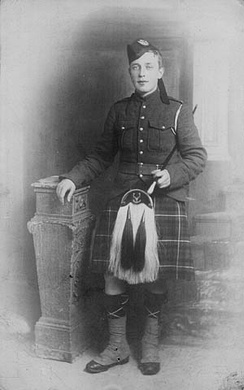 Piper James Cleland Richardson, VC, c. 1914–15. (Photo from Library and Archives Canada.)