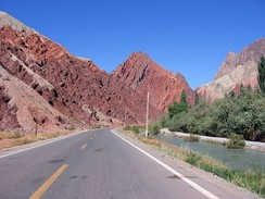 The Karakoram Highway in the Xinjiang region of China.
