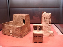 Scale models of some Ancient Egyptian house, in the Louvre