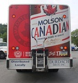 Molson's agent distribution truck somewhere in America, dated 2010, rear view