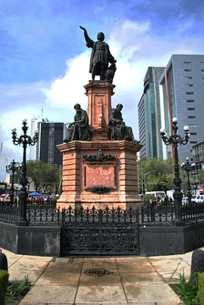 Christopher Columbus Monument along Paseo de la Reforma in Mexico.