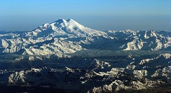 Mount Elbrus and its two peaks (Caucasus, Russia)
