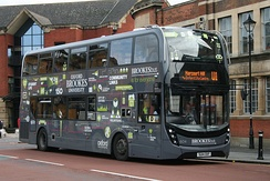 Oxford Bus Company flywheel energy storage bus on a BrookesBus service
