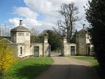 Oxford Lodges to Basildon Park with gates, gatepiers and flanking walls