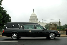 Cadillac hearse used at the state funeral of Ronald Reagan