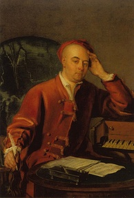 A painting of Handel by Philip Mercier