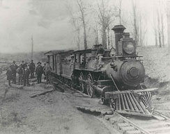 The Greenville and Northern Railway in the 1890s which was converted into the Swamp Rabbit Trail in 2010.