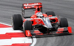 Glock driving for Virgin Racing at the 2010 Malaysian Grand Prix