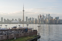 Skyline of Downtown Toronto from the Toronto Islands in 2017.