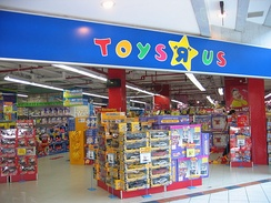 "Toys ""R"" Us operated over 1,500 stores in 30 countries and had an annual revenue of US$13.6 billion"