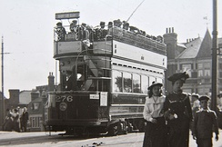 Tram at Teddington in about 1905